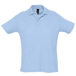 Рубашка поло мужская SUMMER 170, голубая