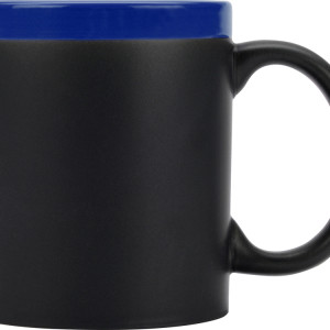 Кружка на 320 мл с покрытием для рисования мелом (мелки в комплект не входят), шт.,  синий