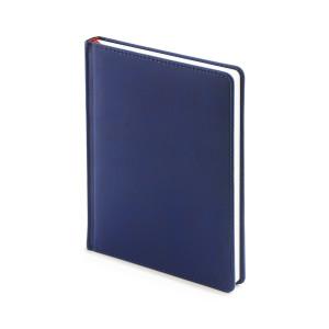 Ежедневник недатированный Velvet, темно-синий, белый блок, без обреза, ляссе
