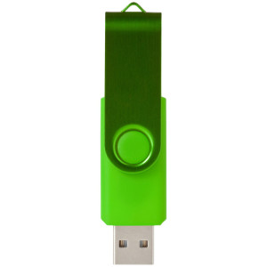 "Флеш-карта ""Rotate Metallic"" USB 2.0 на 2 Gb, лайм"