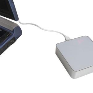 Внешний аккумулятор Brick 6600 мАч, с цифровым индикатором, белый