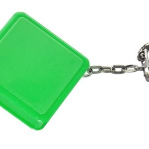 Брелок Square с рулеткой 1 м, зеленый