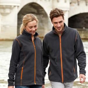 Куртка мужская NOVA MEN 200, темно-серая с оранжевым
