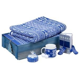 Подарочный новогодний набор «Уютный зимний вечер», синий