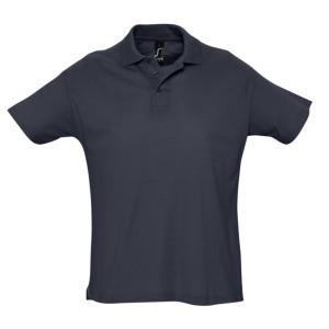 Рубашка поло мужская SUMMER 170, темно-синяя (navy)
