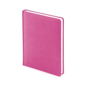 Ежедневник недатированный Velvet, розовый, белый блок, без обреза, ляссе