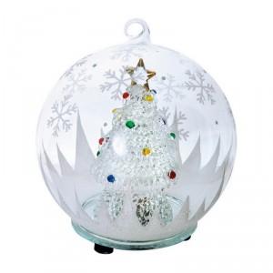 Новогодняя елка в шаре с меняющей цвет подсветкой