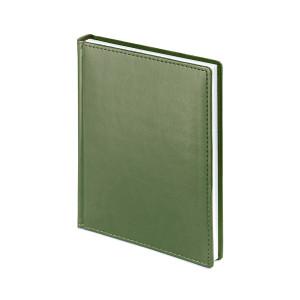 Ежедневник недатированный Velvet, оливковый, белый блок, без обреза, ляссе