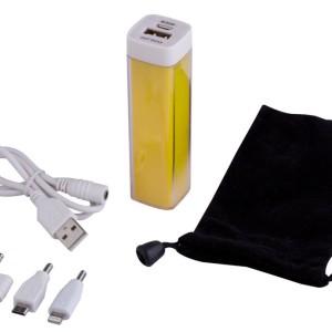 Внешний аккумулятор Bar, 2200 мАч, желтый