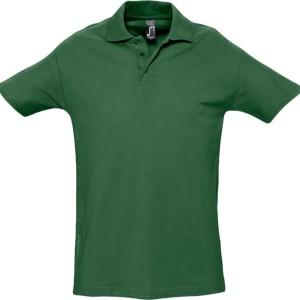 Рубашка поло мужская SPRING 210, темно-зеленая