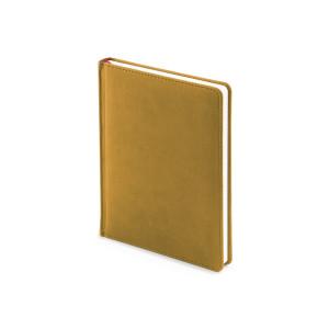 Ежедневник недатированный Velvet, А6+, горчичный, белый блок, без обреза, ляссе