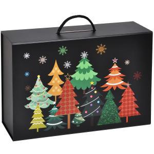 """Коробка подарочная """"Зимняя ночь"""" складная, с ручкой"""