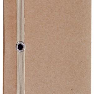 Футляр для визитки Eco Holder со стикерами, бурый