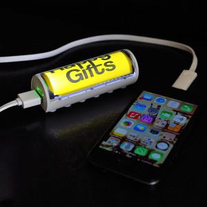 """Универсальное зарядное устройство """"Flash"""" (2600mAh) с подсветкой логотипа"""