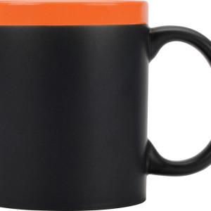 Кружка на 320 мл с покрытием для рисования мелом (мелки в комплект не входят), шт.,  оранжевый
