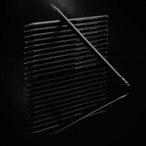 Карандаш простой с ластиком, черный