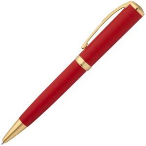 Ручка шариковая Forza, красная с золотистым