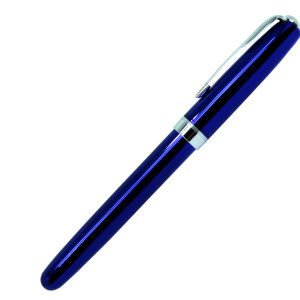 Ручка роллер, металл, синий, BLUE KING