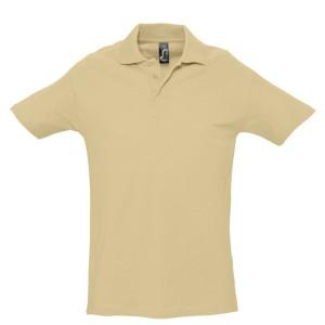 Рубашка поло мужская SPRING 210, бежевая