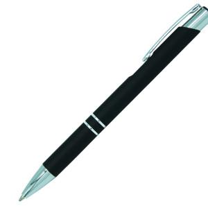 Ручка шариковая, COSMO Soft Touch, металл, черный
