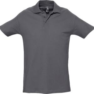 Рубашка поло мужская SPRING 210, темно-серая