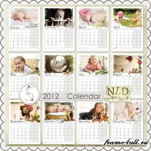 Как сделать календарик с фотографиями
