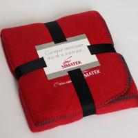 Подарочный плед с вышивкой логотипа