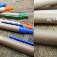 Бумажная (эко) ручка с нанесением логотипа