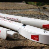 Пластиковая ручка с нанесением логотипа в 1 цвет. Тампопечать.