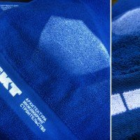 Полотенце с нанесением логотипа машинной вышивкой