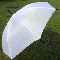 Зонт трость с нанесением логотипа методом термотрансфера