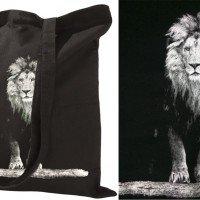 Хлопковая сумка с печатью шелкографией