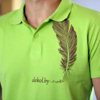 Рубашка поло с печатью шелкографией