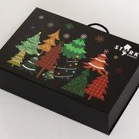 Новогодняя подарочная коробка с печатью логотипа