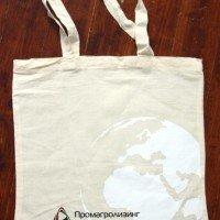 Хлопковая сумка с печатью шелкографией в 4 цвета