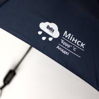Автоматический зонт с нанесением логотипа шелкографией
