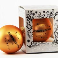 Стеклянный шарик с нанесением в 1 цвет в подарочной упаковке