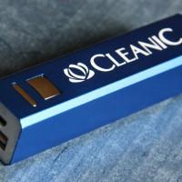 Портативное зарядное устройство с лазерной гравировкой логотипа
