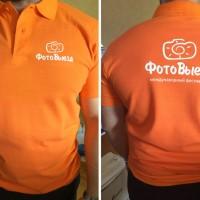 Рубашка поло с печатью в 1 цвет.
