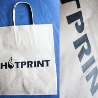 Изготовление крафт пакетов с печатью. Шелкография 1 цвет.