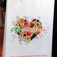 Бумажный пакет с полноцветной печатью и ламинацией