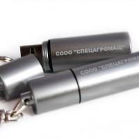 Металлическая флешка с лазерной гравировкой.