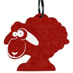 Брелок «Овечка», красная