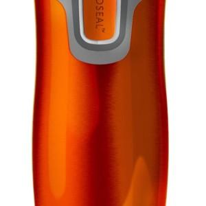 Термостакан Contigo West Loop, вакуумный, герметичный, оранжевый