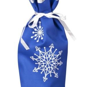 Чехол для шампанского «Снежинки», синий