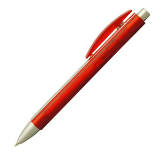 Ручка шариковая, пластик, красный