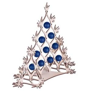 Сборная елка «Новогодний ажур», с синими шариками