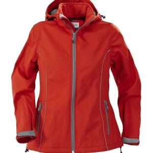 Куртка софтшелл женская HANG GLIDING, красная