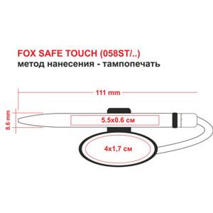 FOX SAFE TOUCH, ручка шариковая с чёрным держателем