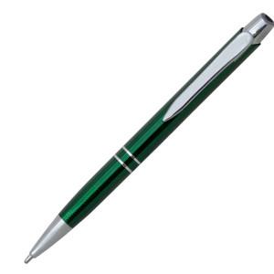 Ручка шариковая, металл, зеленый МАРИЭТТА